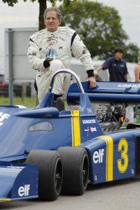 Agosto 2013, Jody Scheckter dopo più di 30 anni nell'abitacolo della Tyrrell P34 a sei ruote...
