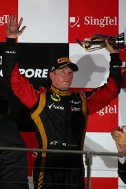 Kimi Raikkonen Terzo classificato al GP di Singapore 2013