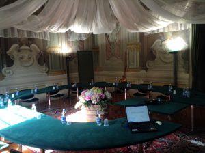 La sala del workshop / tavola rotonda presso l'Associazione Industriali di Lucca