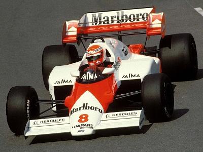 Niki Lauda  McLaren MP4/2 campione del mondo 1984