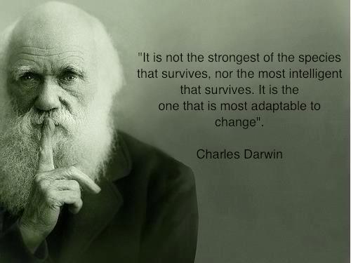 Charles Darwin e una sua celebre riflessione sullo spirito di adattabilità al cambiamento...