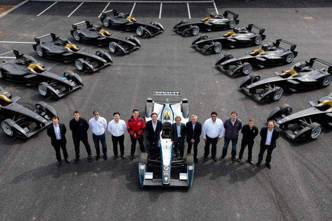 Presentazione delle Formula E pronte per la consegna ai 10 team