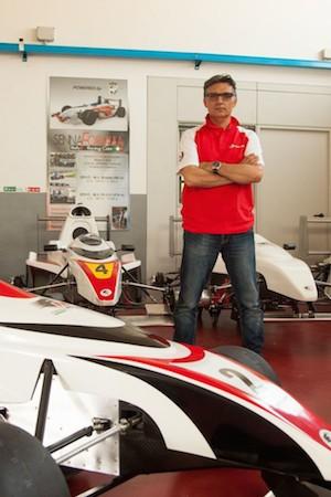 Lorenzo Senna all'officina Formula Modena. Spilamberto - Modena