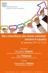 Gruppo Giovani Imprenditori, Associazione Industriali di Lucca - 30 settembre 2014