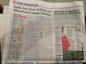 January 2015. Organizations in India recruit at full speed on campuses