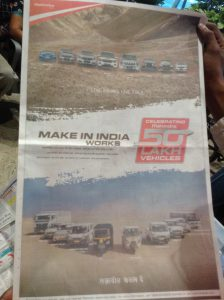 January 2015. Mahindra celebrating its 5 million vehicles manufactured