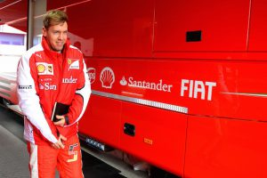 Vettel and his notebook