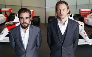 Fernando Alonso and Janson Button